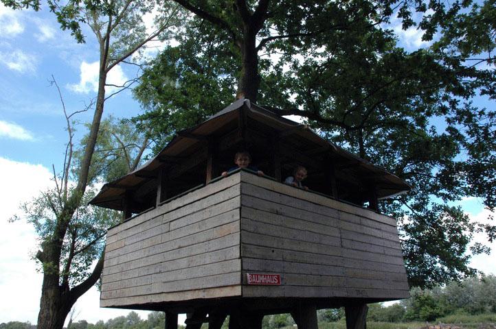 Ein tolles Versteck in den Bäumen - das Baumhaus