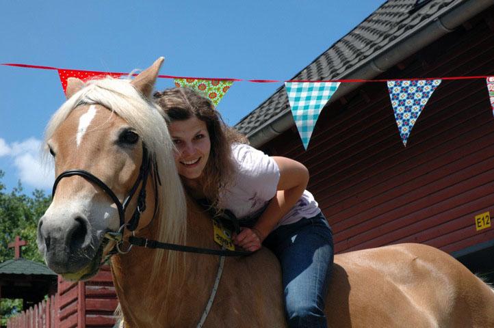 Auf Pferde klettern und dem Himmel näher kommen